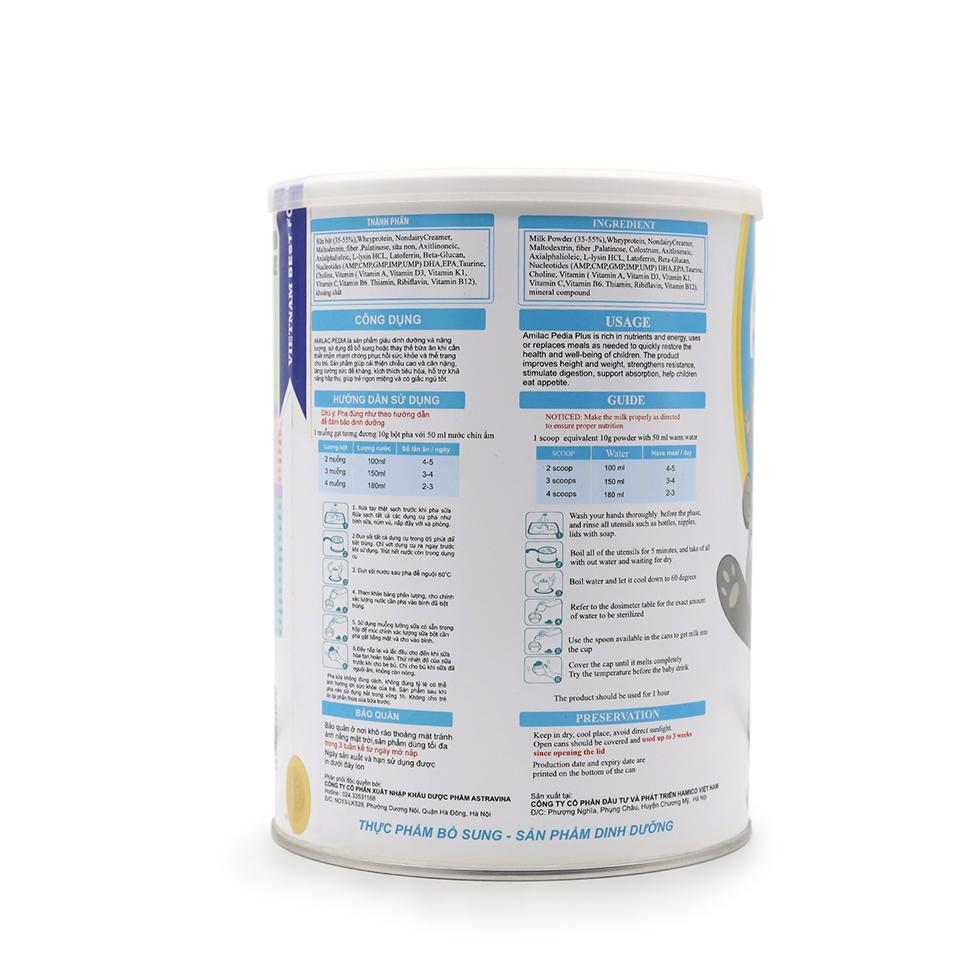 Sữa Amilac Pedia 2