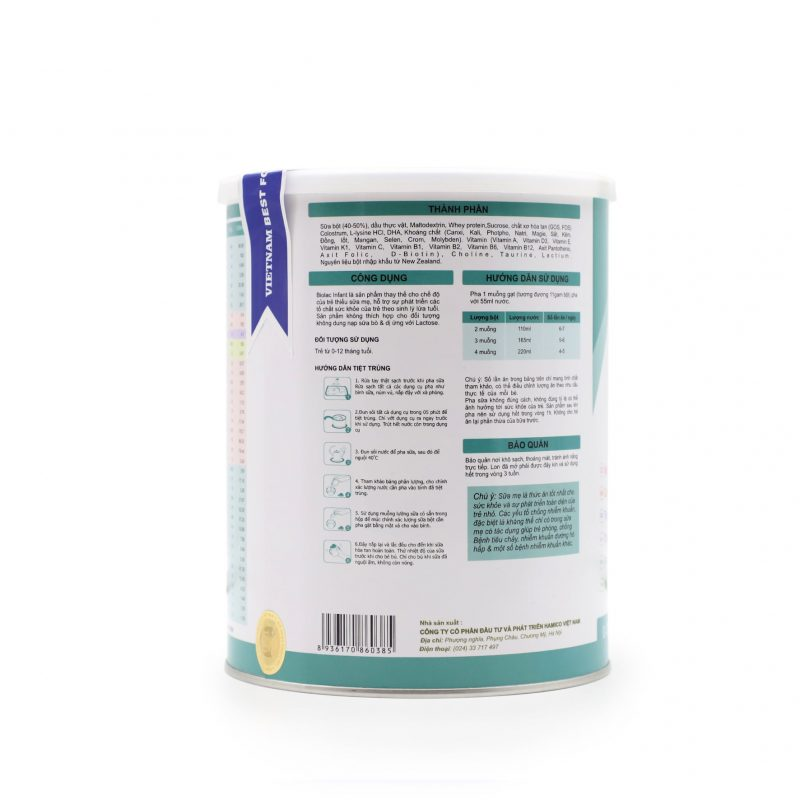 Sữa Biolac Infant 900g